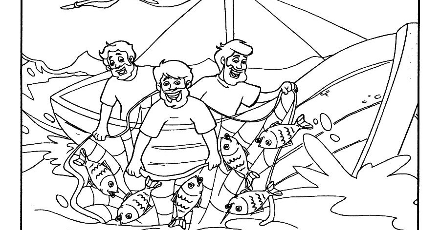 Dibujos Para Colorear Un Pescador: La Pesca Milagrosa Para Pintar Jardim Da F 233 Desenhos E