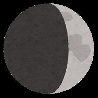 月の満ち欠けのイラスト9