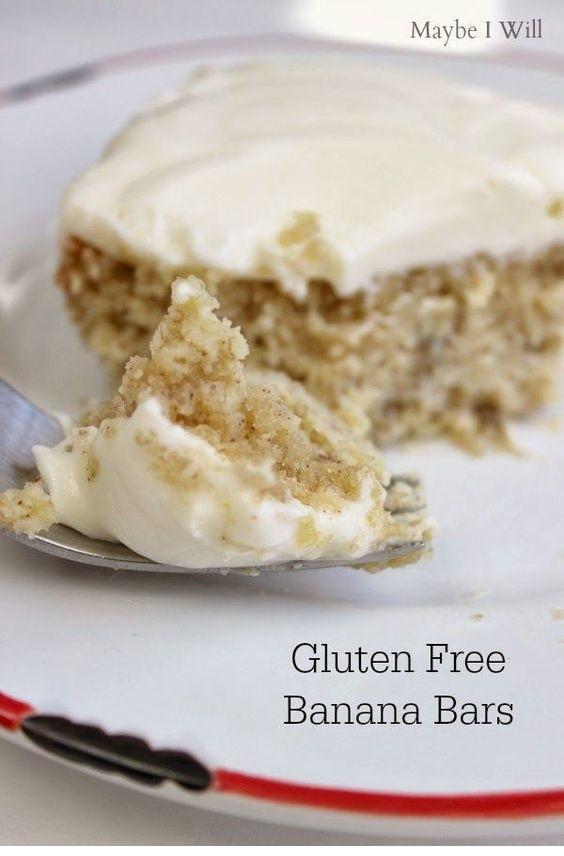 Gluten Free Banana Cake With Sugar Free Cream Cheese Frosting