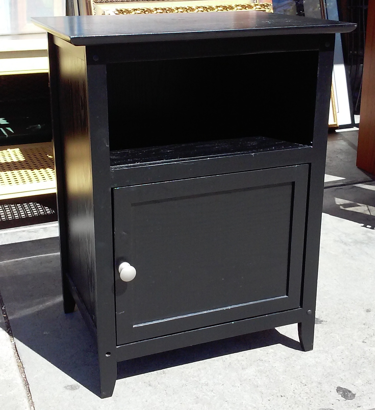 Uhuru furniture collectibles sold 1789 modern black for Tall modern nightstands