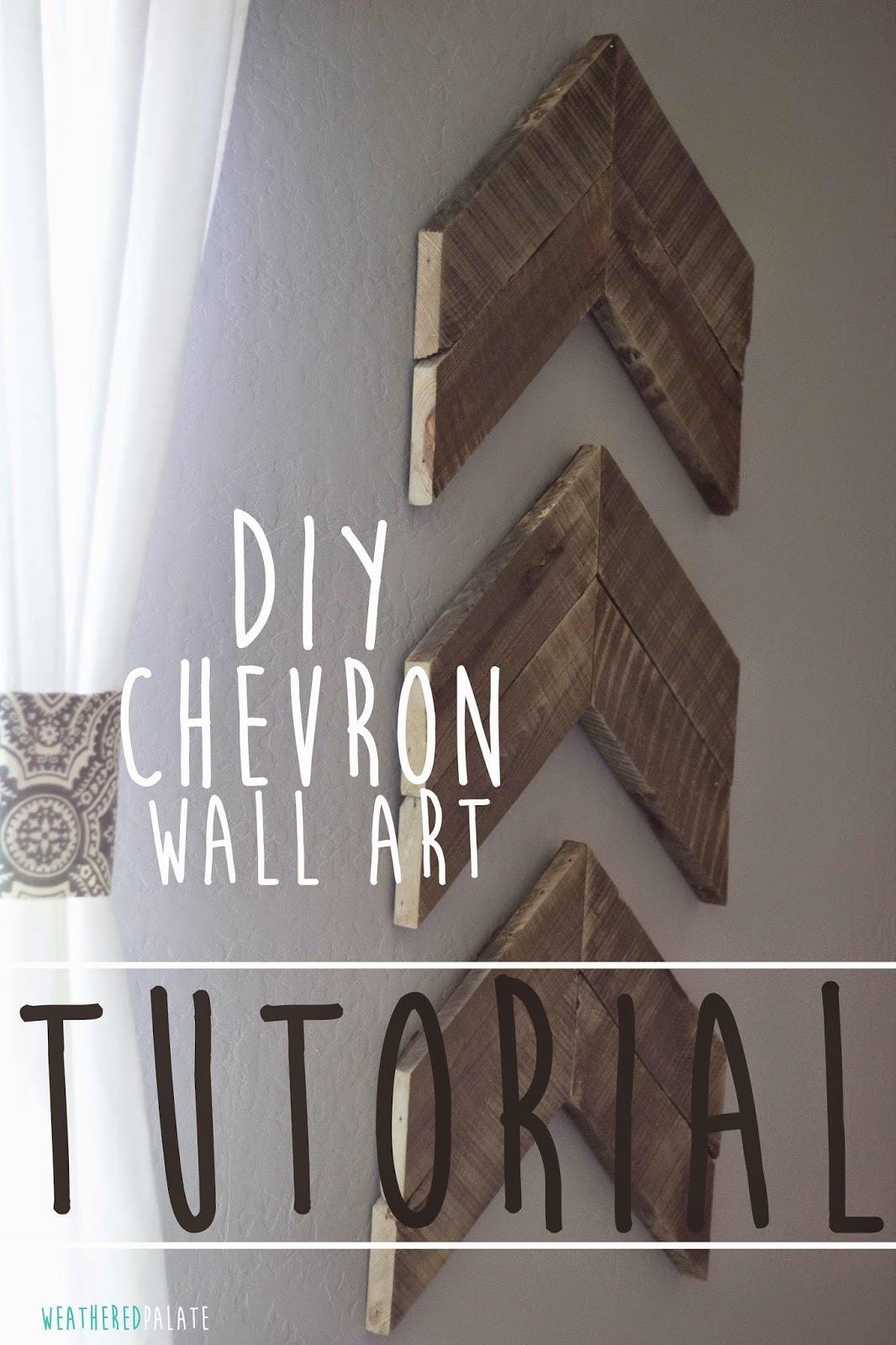 DIY Chevron Wall Art {TUTORIAL} | The Weathered Palate