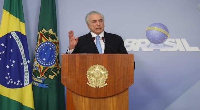 Presidente Michel Temer antecipa pronunciamento do 1º de Maio