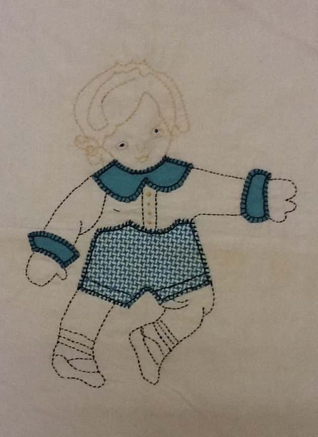 Quilts Vintage And Antique Doll Applique Block Pattern