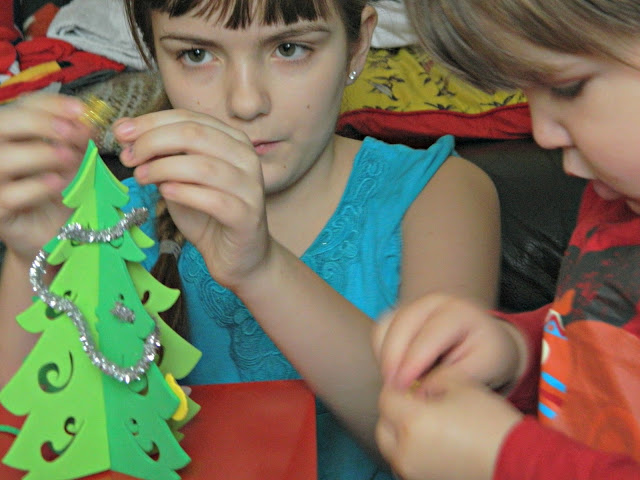 Crafting children art craft christmas tree