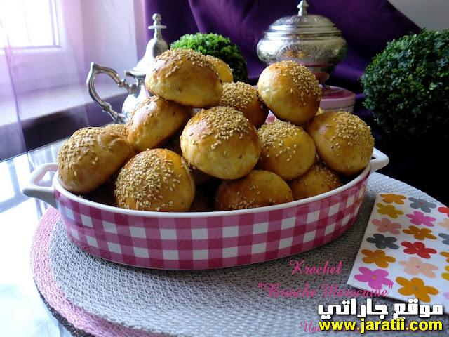 قريشلات مغربية بالينسون والسمسم بالصور