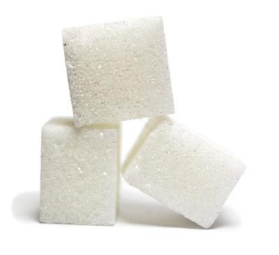 la imagen representa tres terrones de azúcar