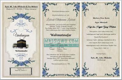Undangan Walimatul Safar Haji Umrah