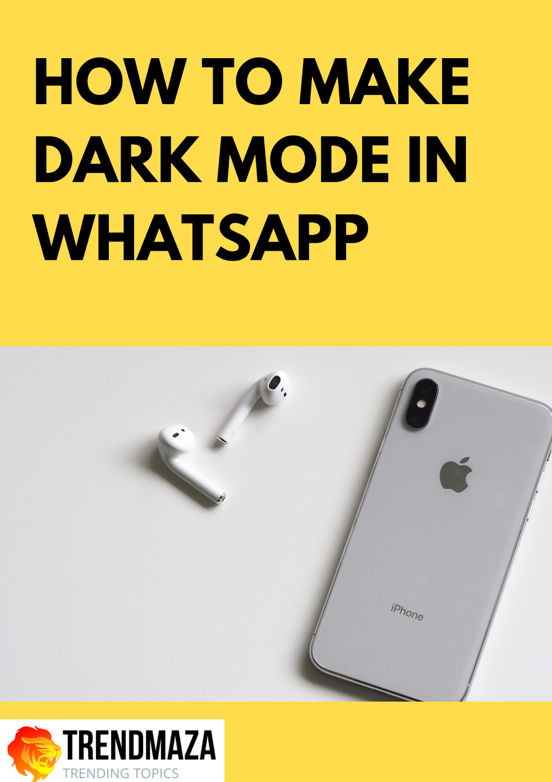 how to make dark mode in WhatsApp