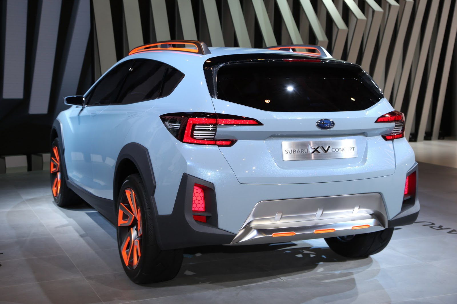 subaru xv concept previews next crosstrek. Black Bedroom Furniture Sets. Home Design Ideas