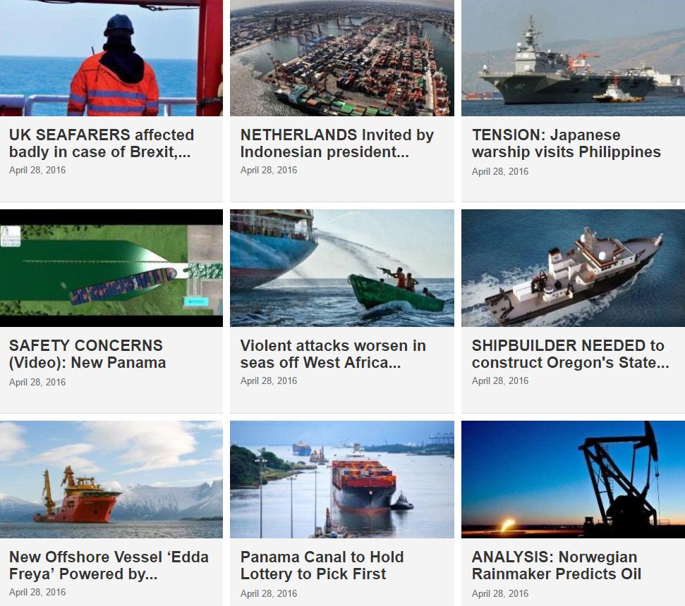Maritime News 28 April 2016