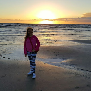 Top Ender on Blackpool Beach at Sunset