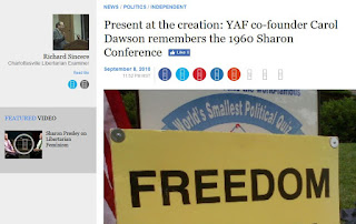 Sharon Statement YAF Carol Dawson Young Americans for Freedom 1960s conservative movement