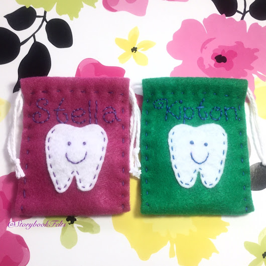 Tooth Pouches for Stella and Kipton