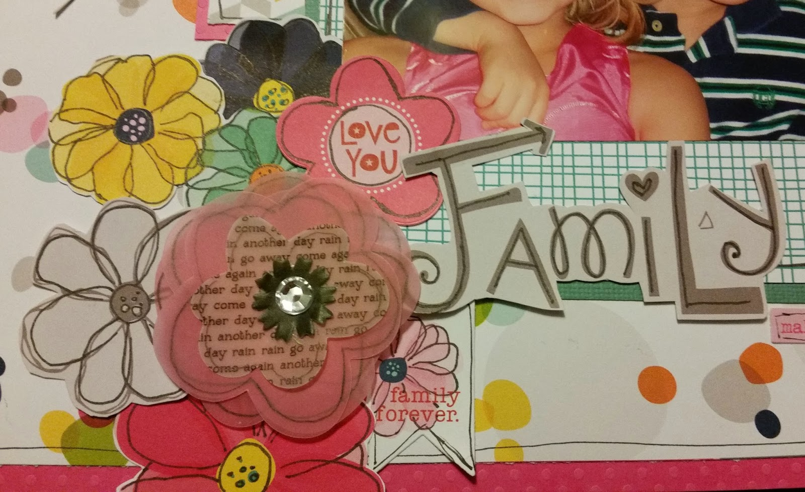 How to put scrapbook back together - Again I Outlined All My Flowers To Make Help Them Really Stand Out I Also Took The Vellum Flowers Apart Outlined Them And Put Them Back Together