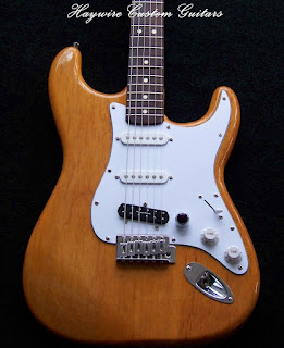 image results for a custom shop Stratocaster with a single spaced duncan humbucker in the bridge position by Haywire Custom Guitars