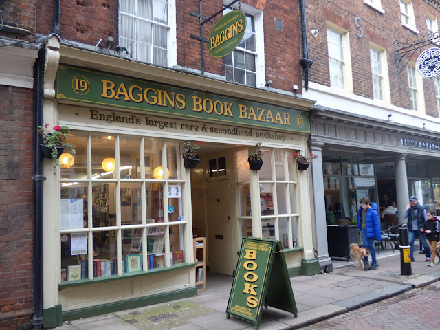 Baggins Book Bazaar second-hand bookshop, Rochester High Street, Kent