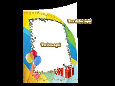ejemplo de tarjeta de invitación con marcos para fotos