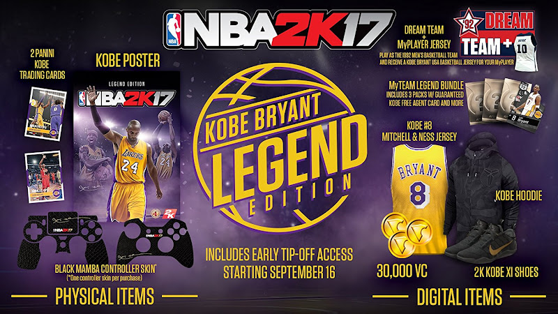 nba 2k17 legend edition bonus