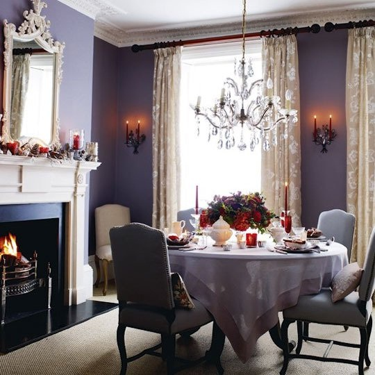 Dining Room Colors: Fancy Home Decor: DINING ROOM COLOR OF THE DAY: PURPLE COLOR