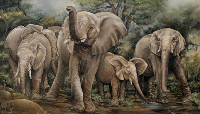 tranh son dau ong voi