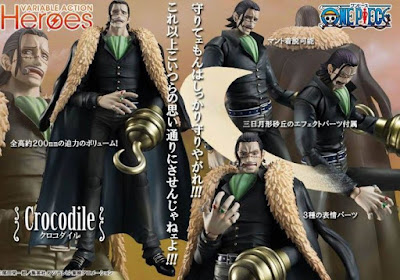 "Variable Action Heroes DX Crocodile de ""One Piece"" - MegaHouse"