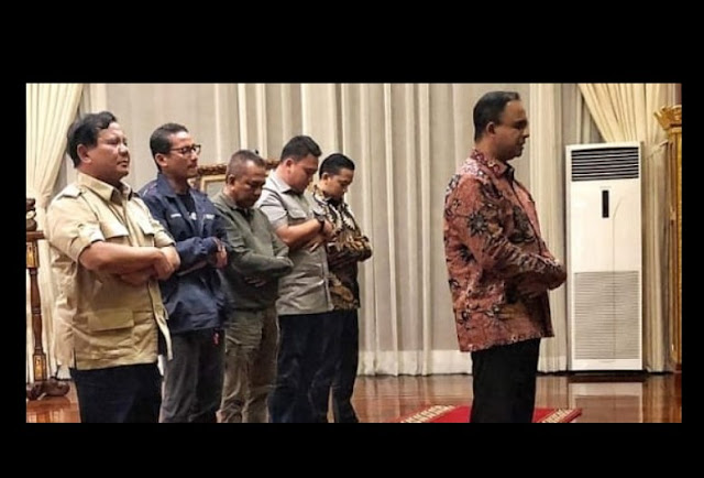Shalat jumat Prabowo