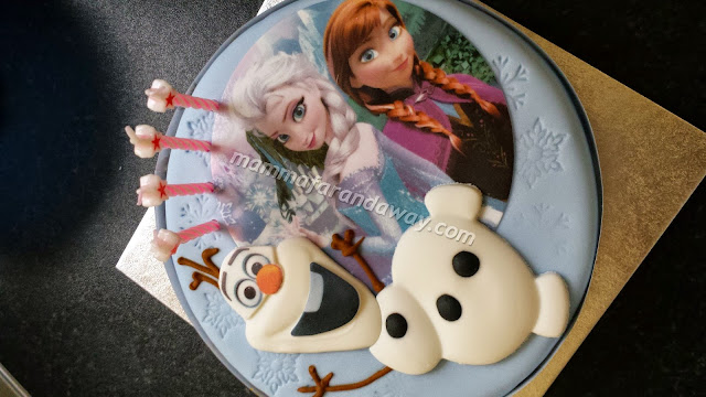 torta a tema frozen