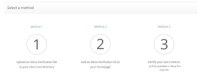 cara verifikasi website atau blog di alexa - 3 metode verifikasi alexa