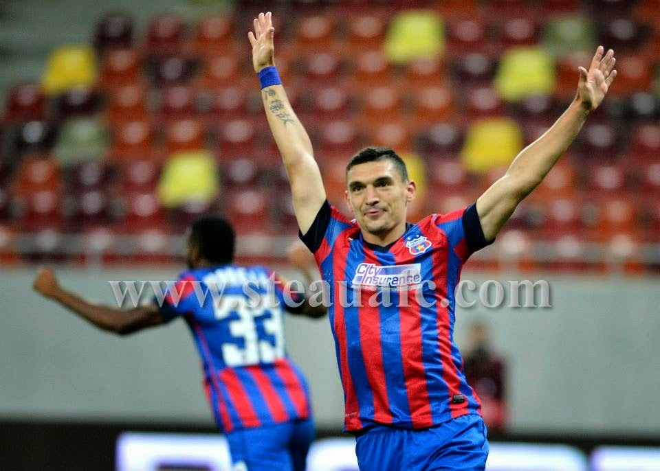 REZUMAT VIDEO goluri STEAUA AALBORG Europa League YOUTUBE Keseru hattrick Raul Rusescu Sanmartean Chipciu 18 septembrie 2014 Bucuresti Arena Nationala