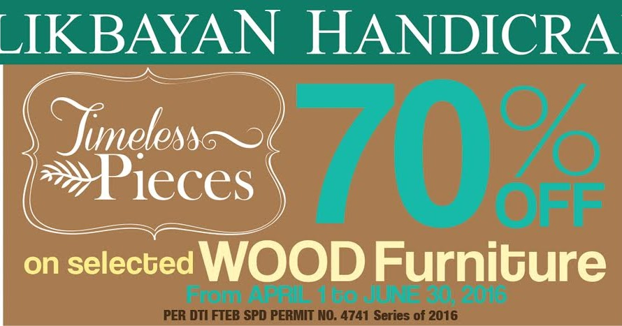 Manila Shopper Balikbayan Handicrafts Wood Furniture Sale Apr June