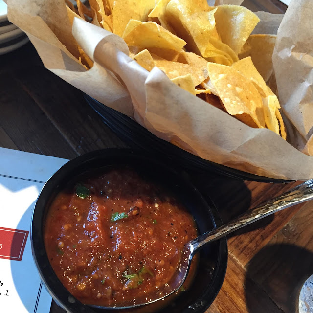 Fresh chips and salsa at truk't in Beloit, Wisconsin