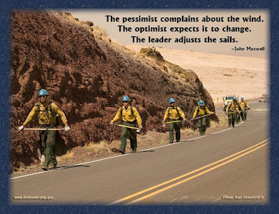 The pessimist complains about the wind. The optimist expects it to change. The leader adjusts the sails. - John Maxwell  [Photo credit: Kari Greer/USFS]