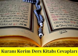 9. Sınıf Kur'an-ı Kerim Tutku Yayıncılık Ders Kitabı Cevapları