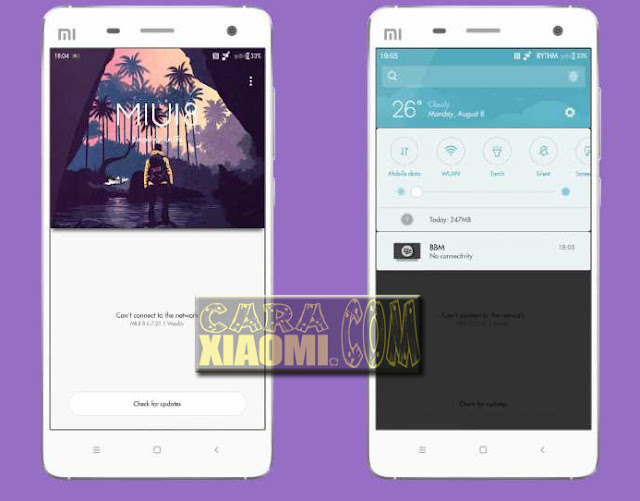 Screenshoot Theme MIUI Purple Rain Mtz V8 For Xiaomi