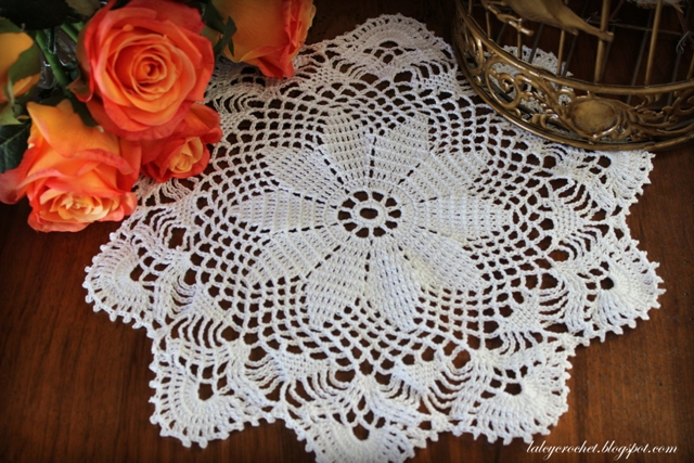 Lacy Crochet Wish Upon A Star Doily Free Vintage Pattern