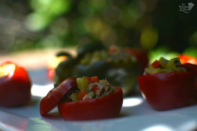 Pimientos cherry rellenos con guiso de vegetales y atún tererecetas 01