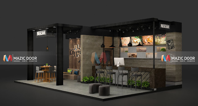 Mazicdoor Coffee Shop Stall Design 3
