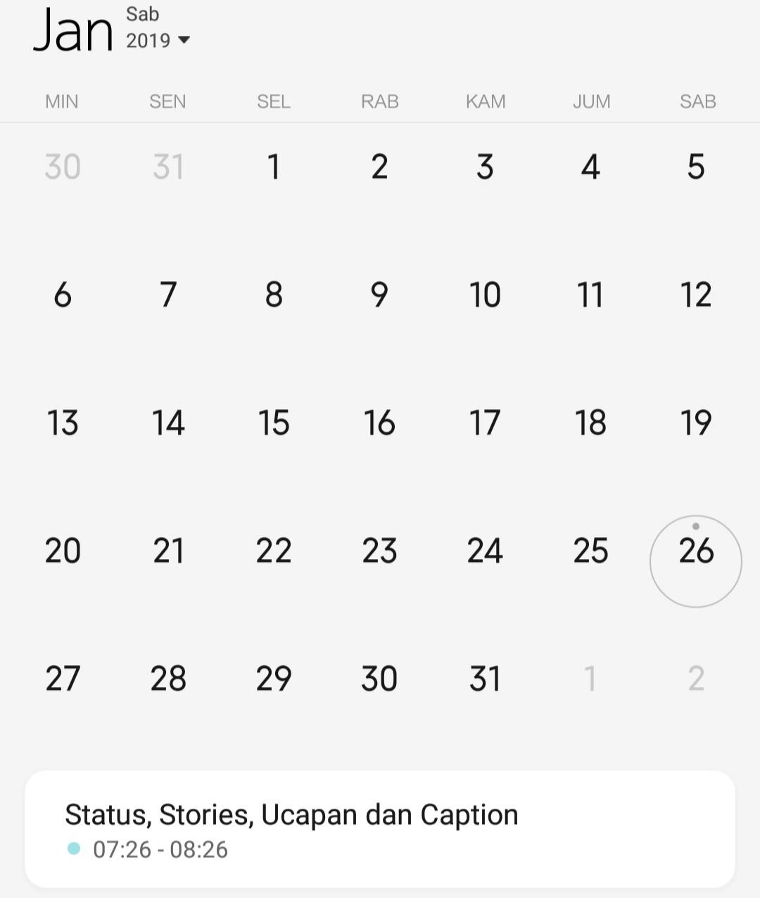 Kumpulan Kata Bulan Januari untuk Status, Stories dan Caption Terbaru