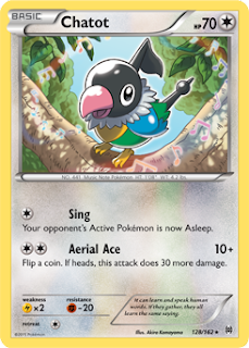 Chatot BREAKthrough Pokemon Card