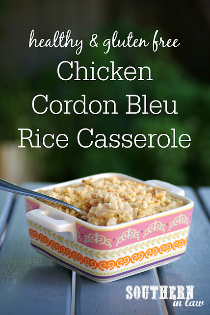 Healthy Chicken Cordon Bleu Casserole Recipe - healthy, low fat, gluten free, high protein, clean eating friendly, sugar free, egg free, nut free