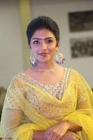 Actress Eesha in Yellow Choli Blue Ghagra at Darshakudu music launch 024.JPG