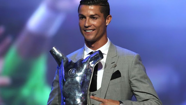 Real Madrid Player , Ronaldo Emerges UEFA Player Of The Year.