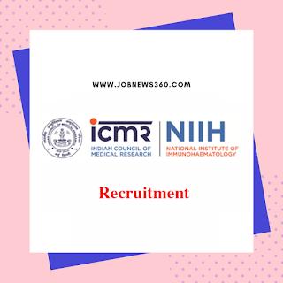 ICMR-NIIH Walk-IN 2019 for SRF & Data Entry Operator (5 Vacancies)