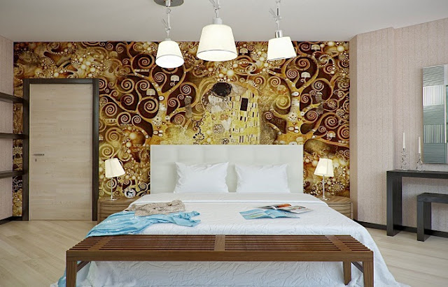 Modern bedroom wall designs ideas