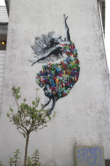 While you discovered his first street piece a few days ago, Martin Whatson just wrapped up a large new mural in Stavanger, Norway for Nuart '15.