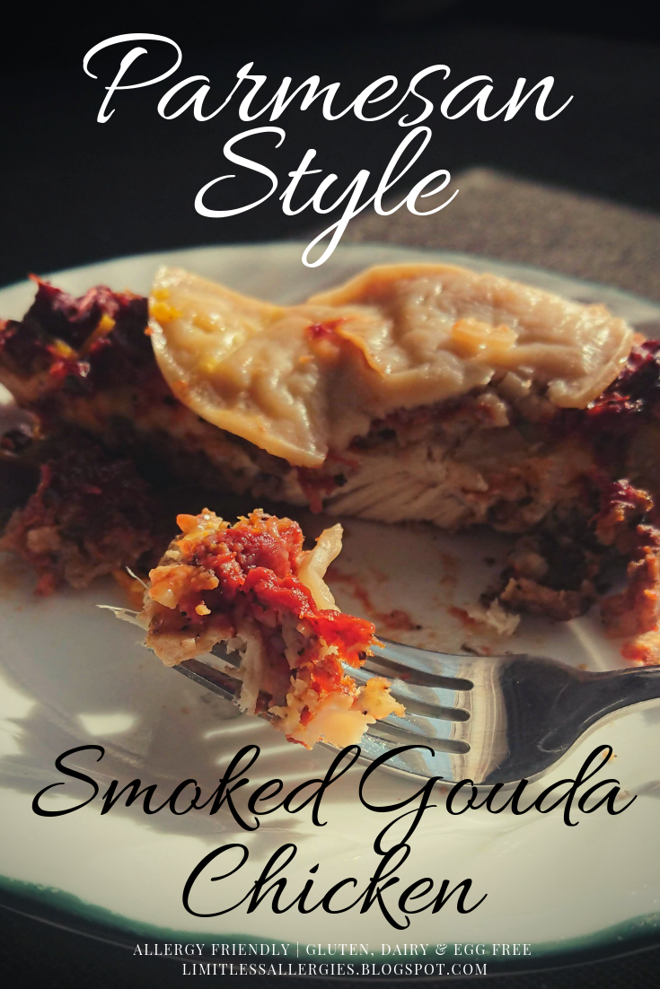 Pinning image for Allergy Friendly Smoked Gouda Chicken