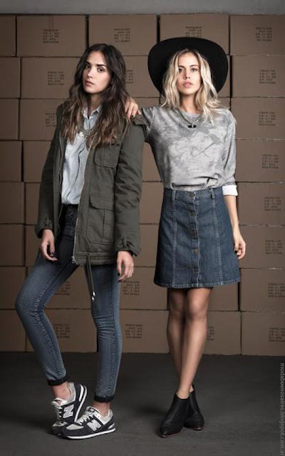 Moda invierno 2016 mujer. Wupper Jeans otoño invierno 2016 camperas parkas.