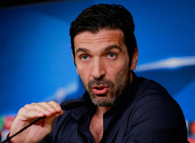 Italy and Juventus goalkeeper Gianluigi Buffon announces he'll retire from active footballat the end of the season. He joined Juventus in 2001 from boyhood club Parma made the announcement at an emotional press conference at the Allianz Stadium, Turin.