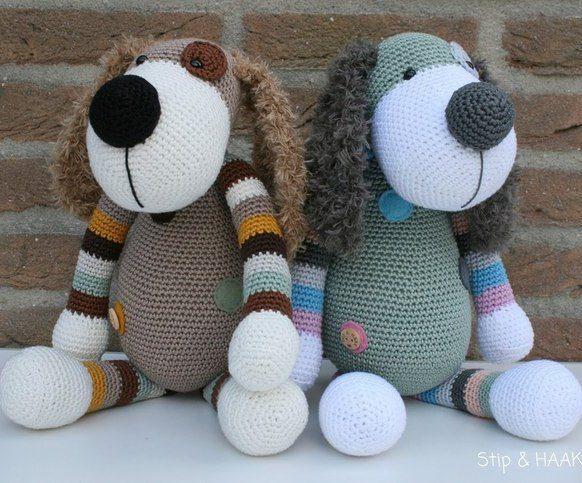 вязание собаки крючком