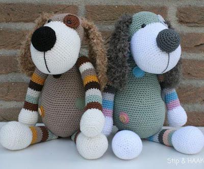 Вязаные собаки амигуруми крючком
